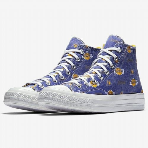 CONVERSE MENS WOMENS PUMPS.LA LAKERS NBA ALL STAR CHUCK TAYLOR HI HIGH TOPS